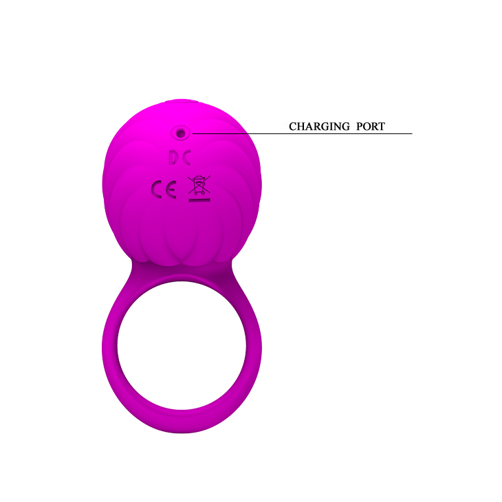 3 Function Rotations Silicone USB Rechargeable Cock Ring