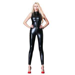 Elastic Patent Leather Jumpsuit Costume