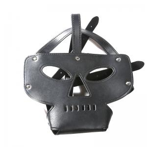 Harness Hood BDSM Slave Game Bound With Restraint Mask Sex Toy