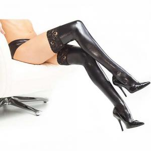Lace Thigh Leather Socks