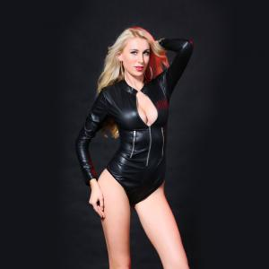 Leather Coded Locomotive Jumpsuit