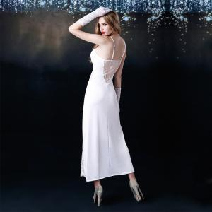 Long skirt with white perspective temptation sexy pajamas