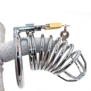 Male Chastity Device Locking Tube Cage Restraint Penis Cage