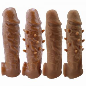 Men Extension Penis Sleeve Enlarger Extender Premature Ejaculation sex toys