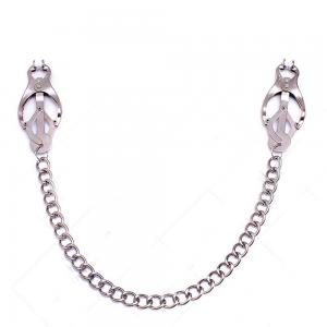 Metal Long Nipple Clips with Necklace Clover Clamps