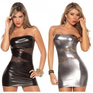 Patent Leather Ladies Tight Sexy Skirt