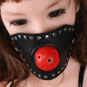 Silicone Ball Gag Open Mouth Gag PU Leather Erotic Adjustable Adult Sex Toy