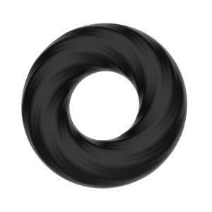 Silicone Cock Ring In Black Men's Sex Toys
